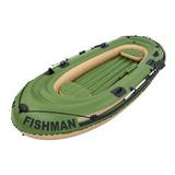 Barco Inflável Mor 001855 Fishman Com Remos Para 4 Pessoas