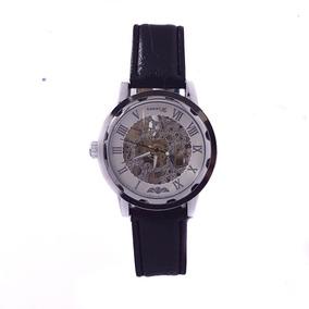 Reloj Cuerda Mecánico Caballero Casual Cuero