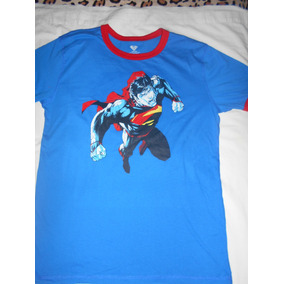 Playera Superman Doble Vista Original Importada