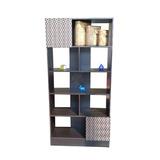 Librero Chocolate Separador Ambientes Repisas Entrepaños