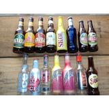 Lote C/15 Garrafinhas Diferentes De Bebidas Alcoólicas