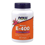 Ahora Vitamina E 400 Iu Mt, 100 Cápsulas Blandas