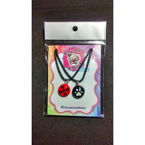 Collar Dije Ladybug Miraculous Cat Noir Bff