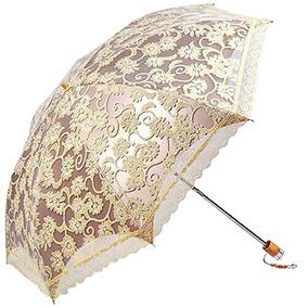 Sombrilla Miihome Ladies Paraguas Del Parasol Del Cordón Pa