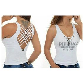 Blusinhas Femininas Da Pit Bull - Camisetas e Blusas Manga Curta ... 01940504c00