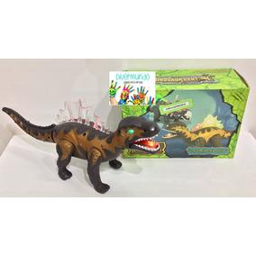 Dinosaurio Con Luz Y Música-dino-a Pilas