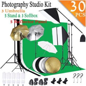Fotografía Video Studio Iluminación Kit Soporte Paraguas Set