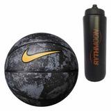Kit Bola Basquete Nike Lebron Playground 4p Preto Metalizado