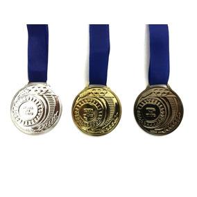 Kit 300x Medalha Honra Ao Mérito 40 Mm Com Fita Premiação