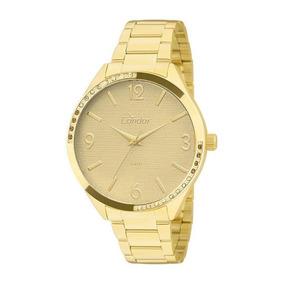 Relógio Condor Feminino Dourado Strass Barato Co2035krt/4d