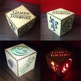 Luminaria Game Of Thrones Presente Aniversario Casa Decoraçã