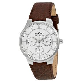 85cad1a5f7eee Relógio Skagen Mens 856xlslc Skagen Denmark White - Relógios De ...