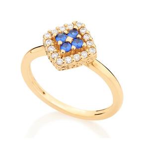 1b07192f2a596 Anel Solitario Ouro Pedra Losango - Anéis com o melhor preço no ...