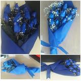 Rosas Azules En Ramo, Lima Y Provincias