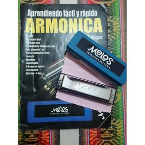 Armonica Blusera Melos + Guia Práctica Para Aprender A Tocar