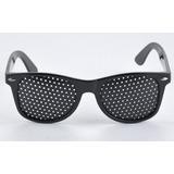d474e92605141 Kit 6 Óculos Com Furinhos Preto Feito Abs Universal Foco