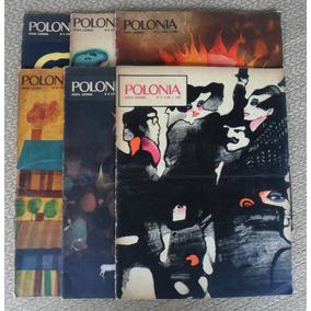 6 Revistas Antigas Polonia Anos 1960 A 70 - Ilustradas