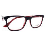 Óculos De Grau Atitude At6185 Acetato (azul vermelho H01, 54 675ffbaa6c