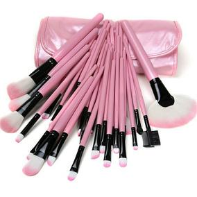 Kit Com 32 Pinceis Maquiagem Rosa - Maquiagem no Mercado Livre Brasil 104ab75764