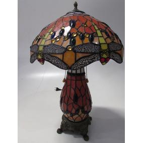 Lindo Abajur Luminaria Tiffany Libelula Cod Fa145 D40
