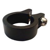 Collar Portasilla Aluminio Negro Con Bulon - 28.6 Mm