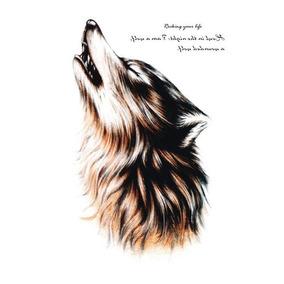 Tatuagem Temporária Fake Tatoo Pronta Entrega Lobo Wolf