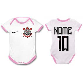 Roupa Bebe Corinthians Rosa - Bodies Manga Curta Branco de Bebê no ... a666de8f55ecc