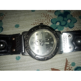 Raro Relógio Antigo Pulso Yankee Street Caveira Com Mola