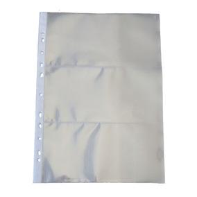 10 Folhas Para Cédula 3 Divisões Polipropileno (49515)