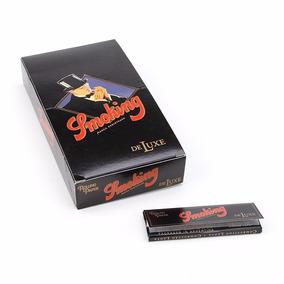 5 Cxs Atacado Seda Smoking Pequena C/25 Preta