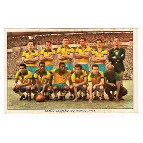 Cartao Postal Brasil Campeão Mundo Futebol - 1958