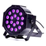 1 Par Led Uv 18*3w Luz Ultravioleta Efecto Fluor Fiestaclub