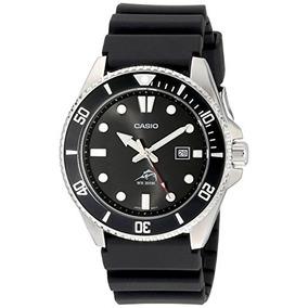 285cfd4d52f0 Casio De Los Hombres Negro Analog Anti Reverse Bisel Reloj