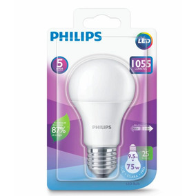 Kit 12 Lâmpadas Led Bulbo 9.5w Branco Frio Original Philips