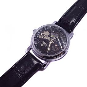 Reloj Cuerda Mecánico Caballero Casual Esqueletotransparente