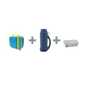 Pack Termo Liquido 500ml + Lonchera + Contenedor - Thermos