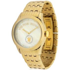 46786a39e88 Relogio Feminino Dourado Victor Hugo - Relógios De Pulso no Mercado ...