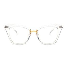 Armação Óculos De Grau Vintage Acetato Transparente - Óculos em São ... e09053e100