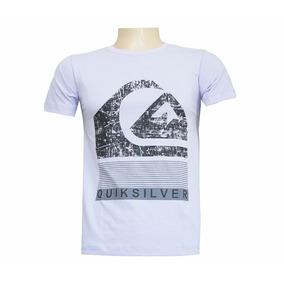 762b906747 Camisa Quiksilver Branca E Azul - Camisas no Mercado Livre Brasil