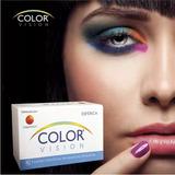 Lente De Contato Color Vision - Mel, Verde Esmeralda, Azul