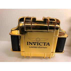 Maleta Invicta Collector P/1rel. Slot Tank Dourado Espelhada