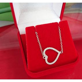 Pulseira Feminina Delicada Coração Cristal Prata Maciça 925