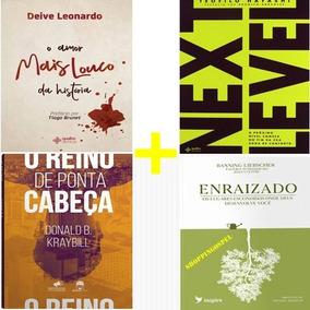 Kit 4 Livros O Reino De Ponta Cabeça + Next Level E Mais