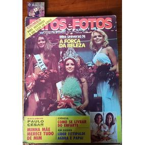 Revista Fatos E Fotos - Miss Universo - Amparo Muñoz - 1974