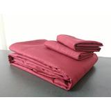 Sábanas Color Rosa Diseño Cama Sencilla Algodón Y Poliéster