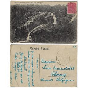Ba 1919 Cartão Postal Foto Cachoeira De Paulo Afonso