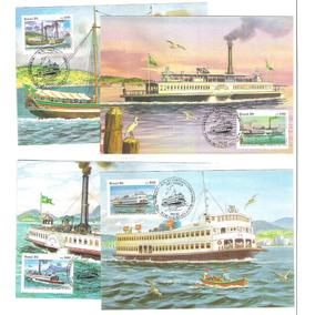 Max126-9 Embarcações Ligação Rio-niterói 1985 Máximo Postal