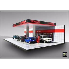 Posto Texaco- 1:43 - Maquete Cenário Diorama