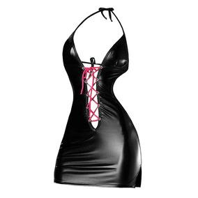 Sexy Minifalda Liston Latex Pegada Dist0 Bondage Lenceria