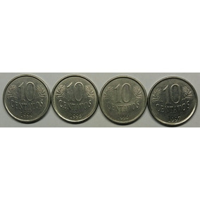 Set De Moedas De 10 Centavos De Real 1994, 1995, 1996, 1997